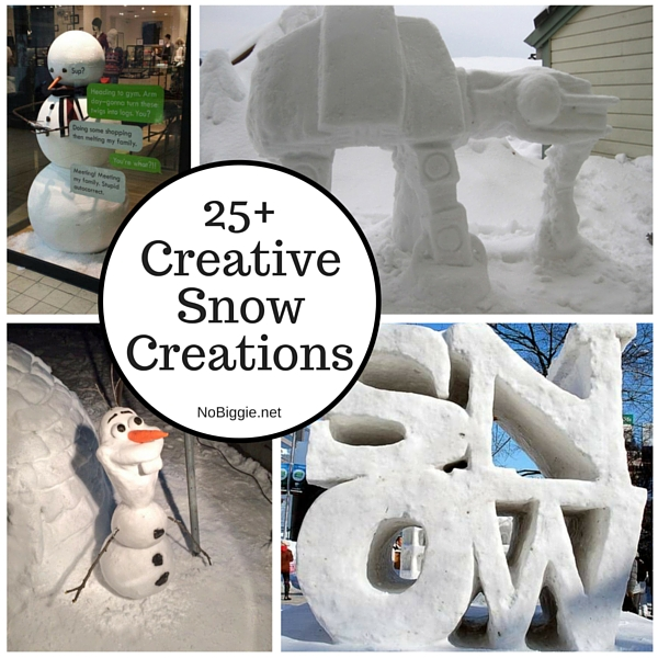 25+Creative Snow Creations