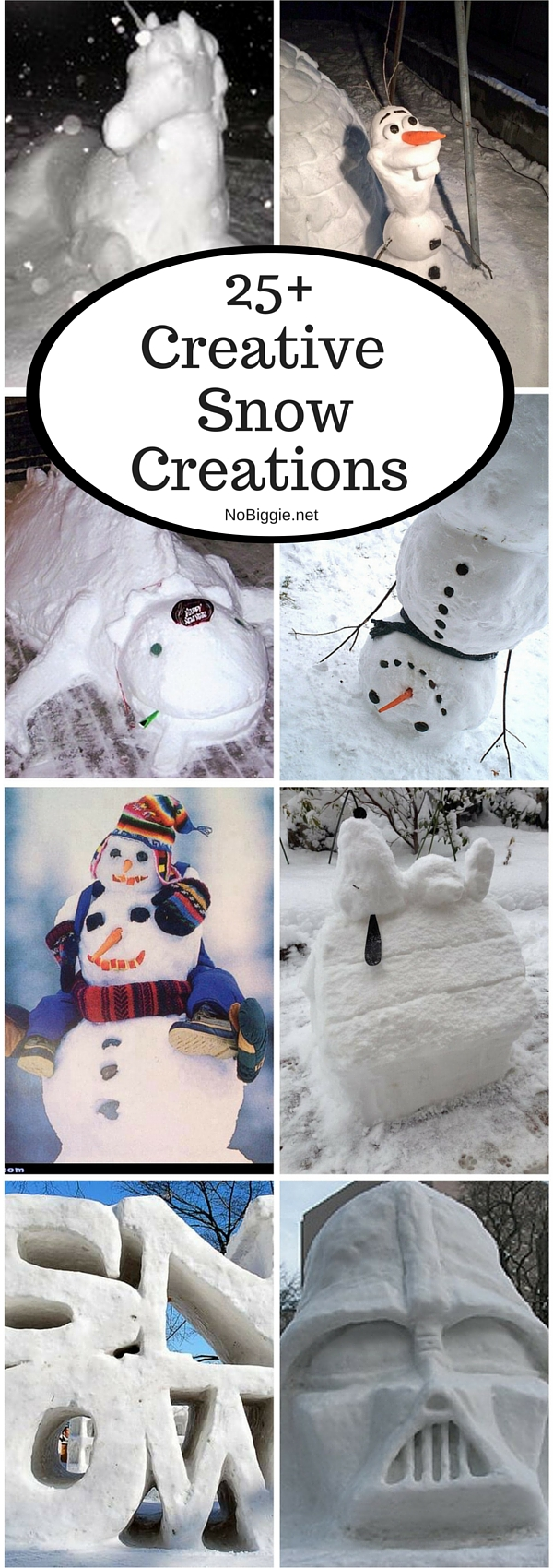 25+Creative Snow Creations