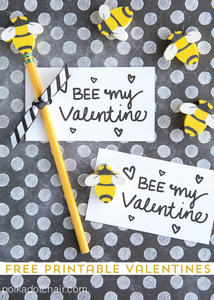 BEE my Valentine (free printable)
