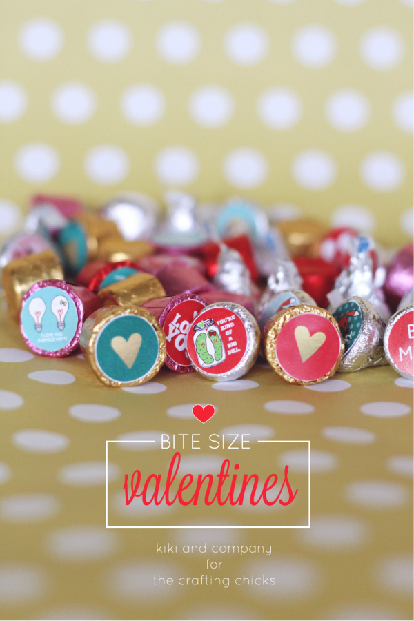 Bite Size Valentines with free printable