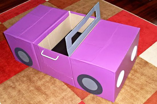 DIY Cardboard Car | 25+ things to make with cardboard