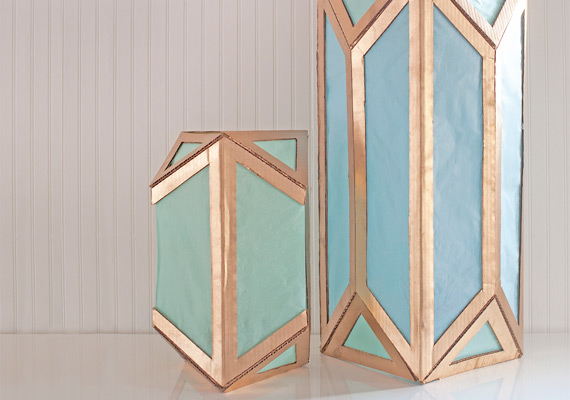 DIY Cardboard Lantern | 25+ things to make with cardboard