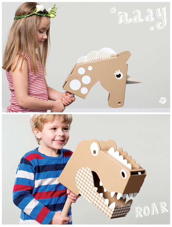 Cardboard horses | 25+ things to make with cardboard