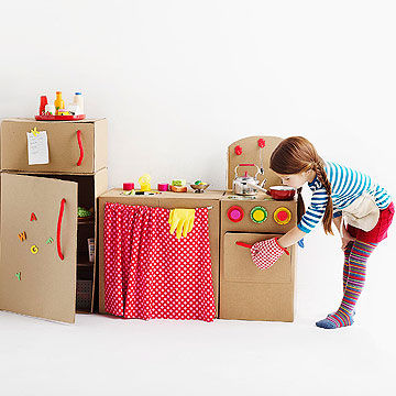 Cardboard kitchen | 25+ things to make with cardboard