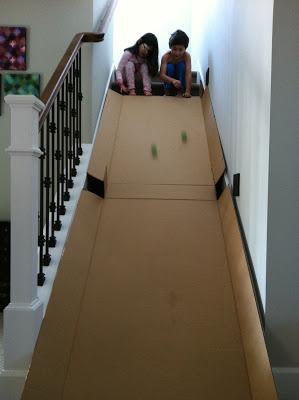 Cardboard slide | 25+ things to make with cardboard