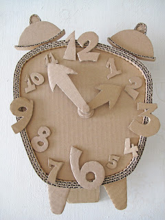 DIY cardboard Clock | 25+ things to make with cardboard