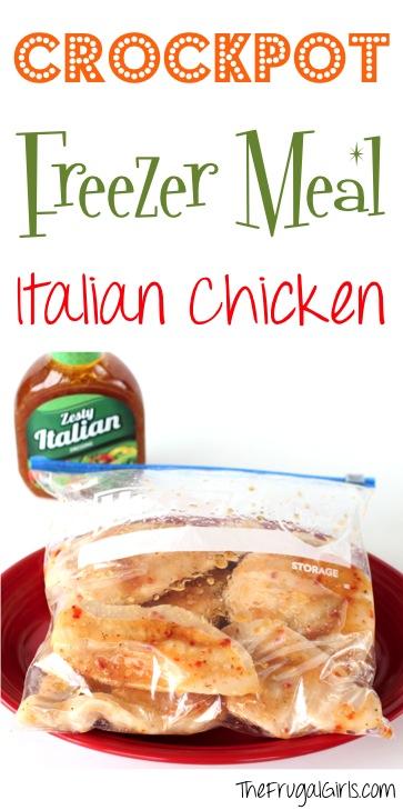 Crockpot Freezer Meal Recipe Italian Chicken | 25+ Freezer to Crockpot Meals