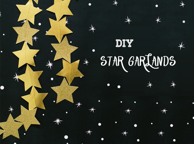 DIY Star Garland | 25+ Oscar Party Ideas