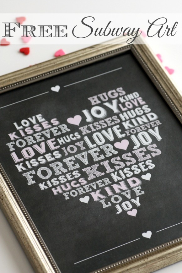 Free Printable Valentine's Day Subway Art