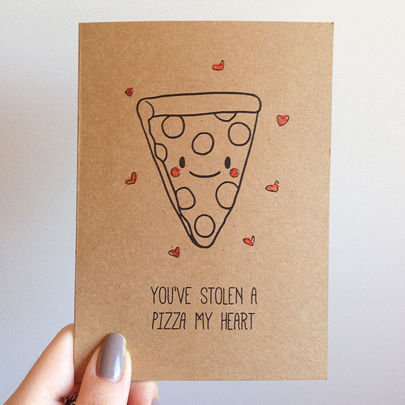 Funny Pizza Pun Valentines Day Card