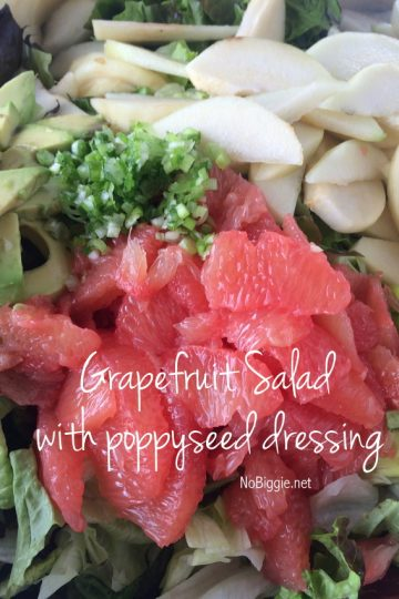 Grapefruit Avocado Salad with Poppy Seed Dressing