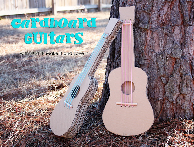 DIY Cardboard Guitars | 25+ things to make with cardboard