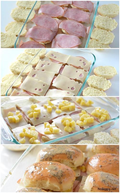 Ham and Cheese Hawaiian Sliders | recipe on NoBiggie.net