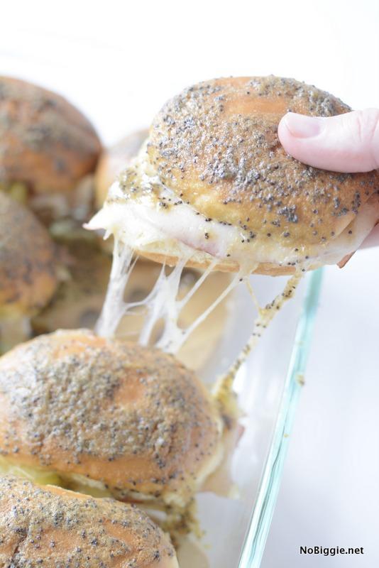 Ham and Cheesey Hawaiian Sliders | NoBiggie.net