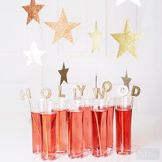 Hollywood drink inserts | 25+ Oscar Party Ideas