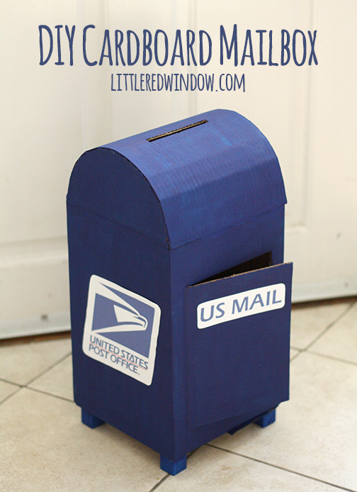 DIY cardboard Mailbox | 25+ things to make with cardboard