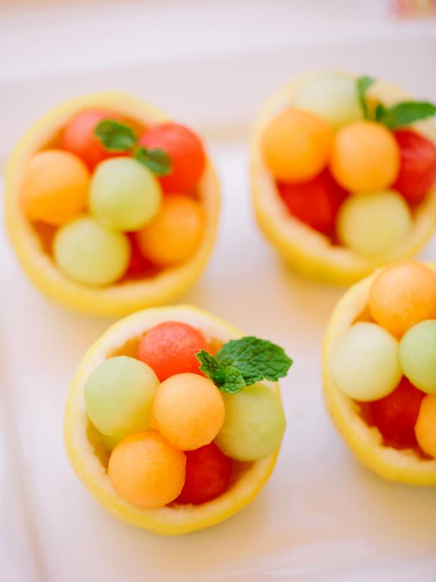 Melon filled citrus bowls