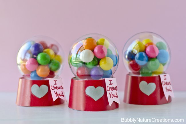 Mini Bubblegum Machine Valentines!