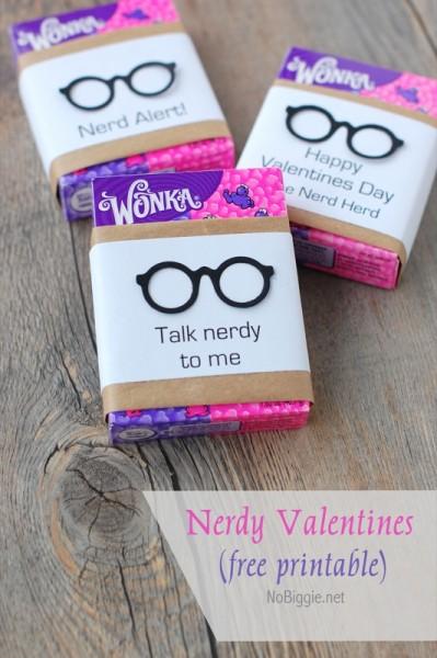 Nerdy Valentines (free printable)