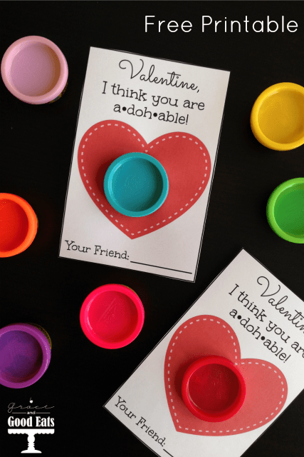 Selective image with play doh valentine printable