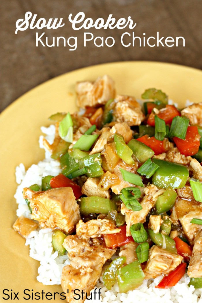 Slow Cooker Kung Pao Chicken | 25+ Freezer to Crockpot Meals