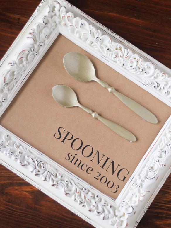 Spooning Since Frame DIY