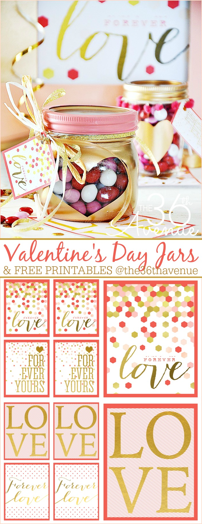 Valentine's Day gift heart jars