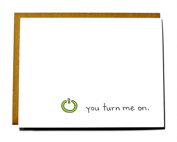 You turn me on - Xbox I love you card