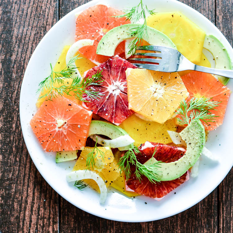 golden beet citrus salad