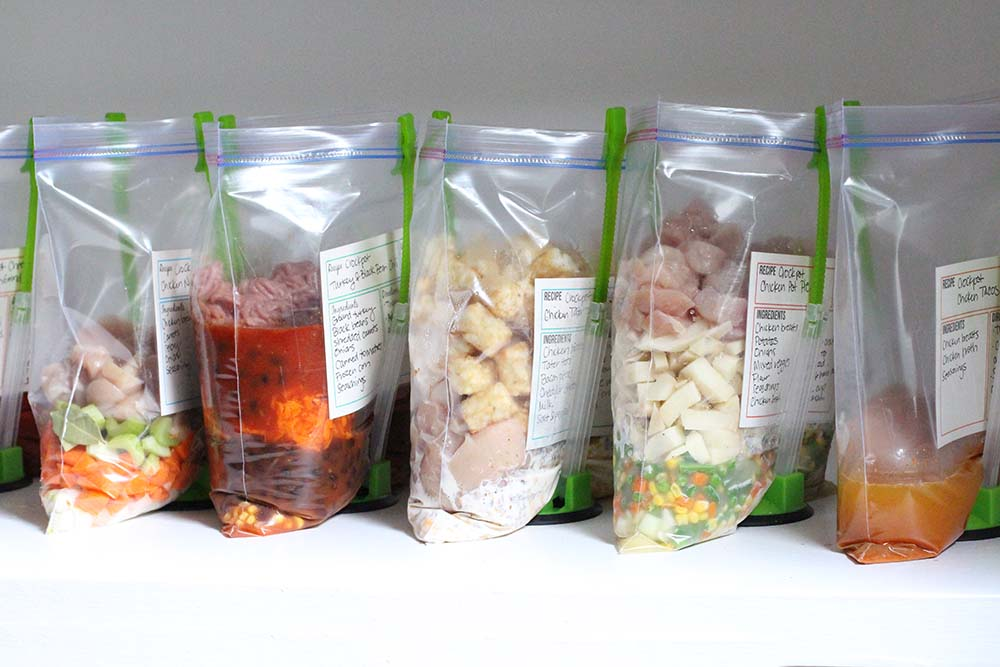 chicken noodle soup freezer to crockpot meal | 25+ Freezer to Crockpot Meals