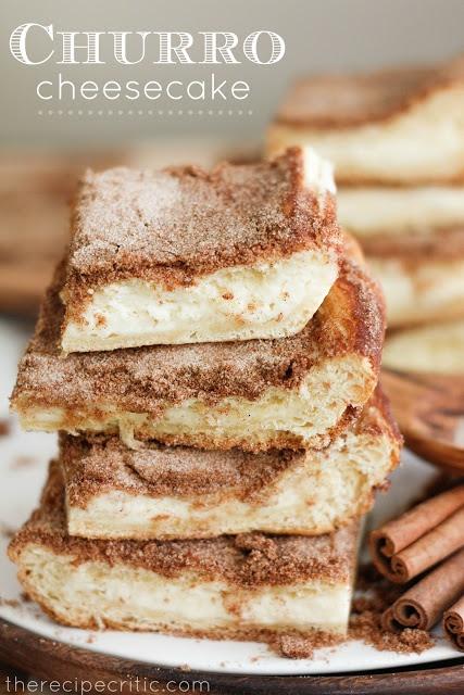 Churro Cheesecake | 25+ Crescent Roll Dough Recipes