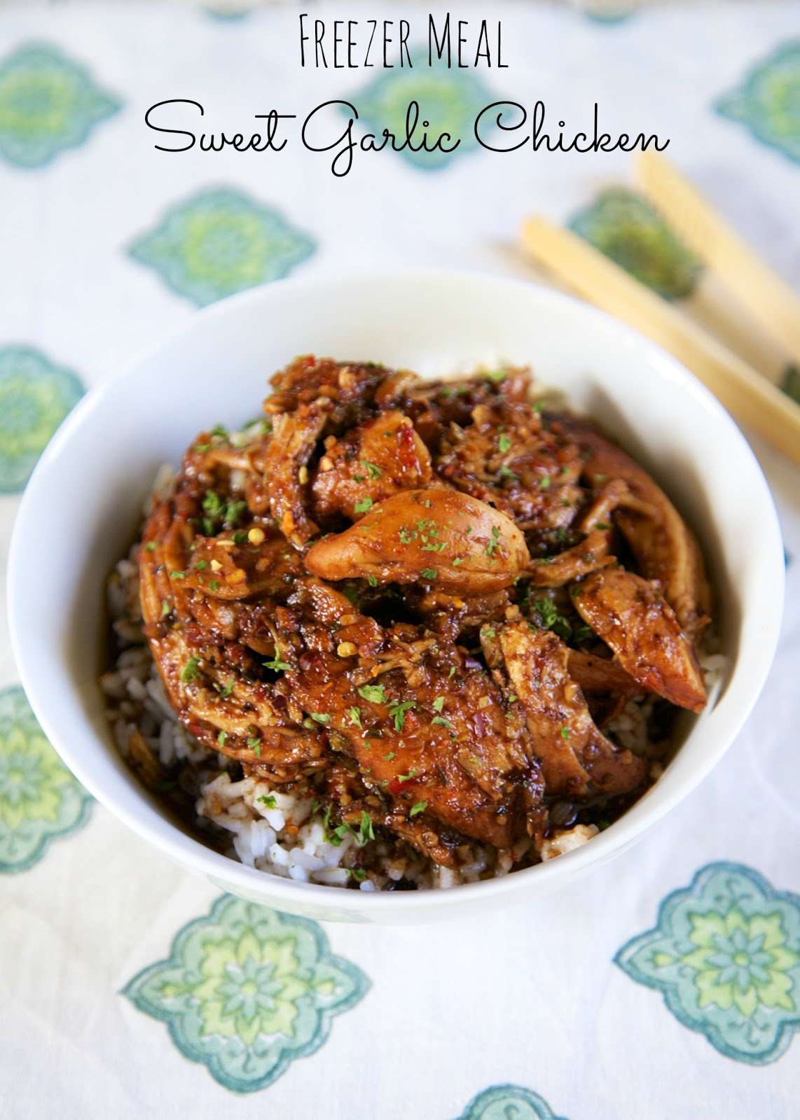 freezer meal sweet garlic chicken | 25+ Freezer to Crockpot Meals