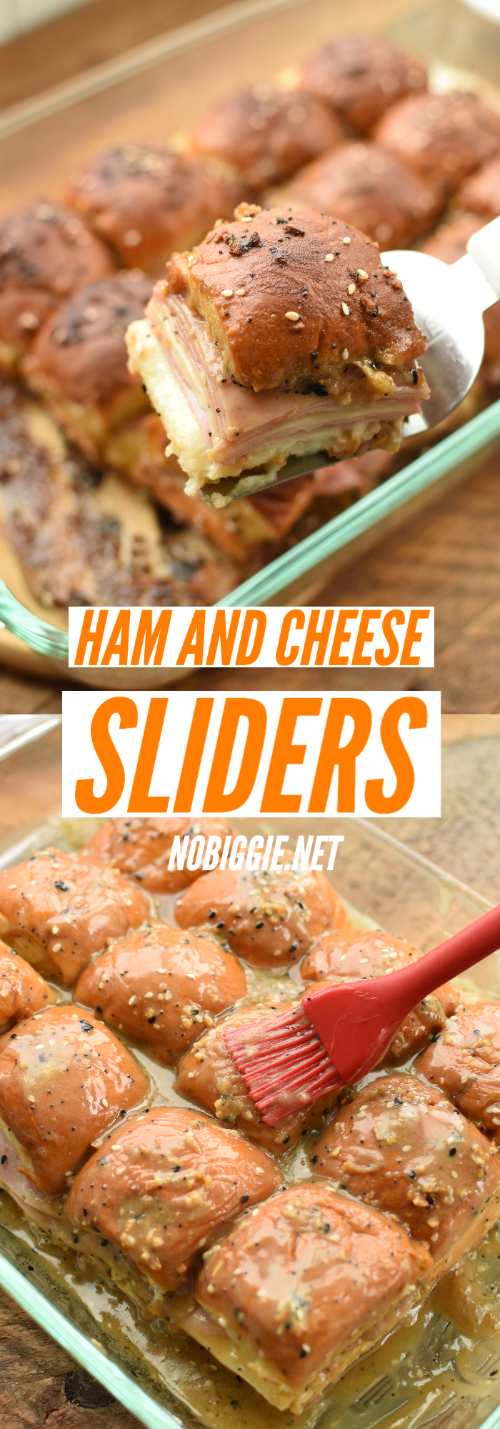 Ham and Cheese Hawaiian Sliders are perfect to feed a crowd and always a #gamedayfood favorite! #sliders #hamandcheesesliders #hawaiiansliders #hamandcheese #hamandcheesehawaiiansliders