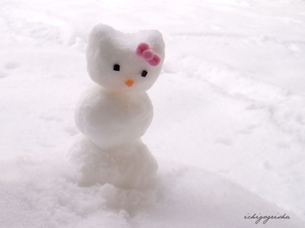 hello kitty snowman