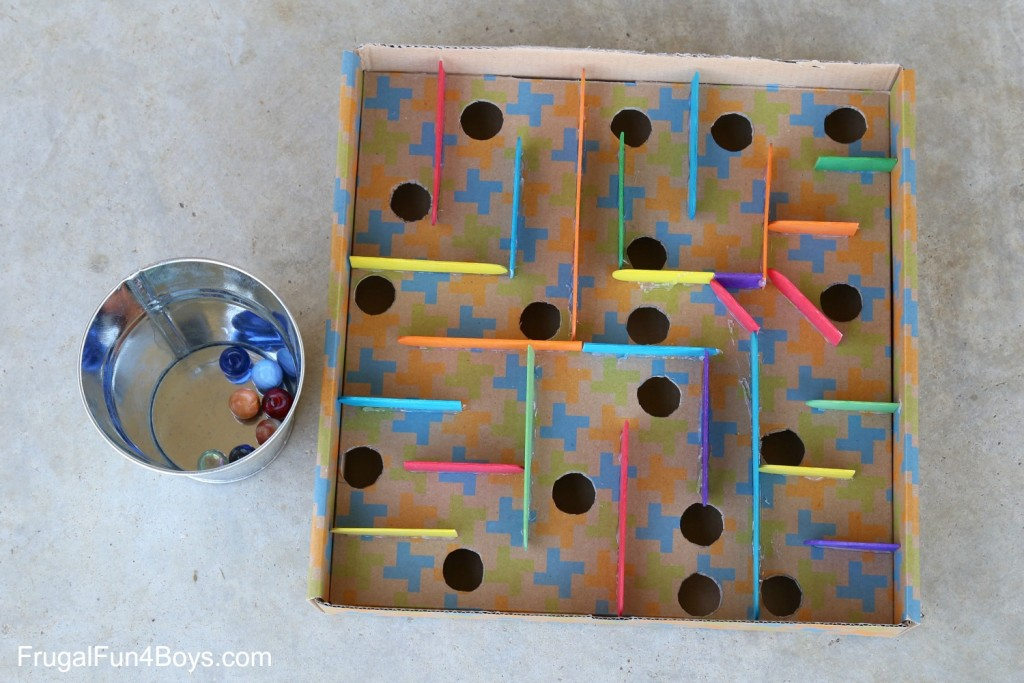 cardboard labyrinth game | 25+ things to make with cardboard