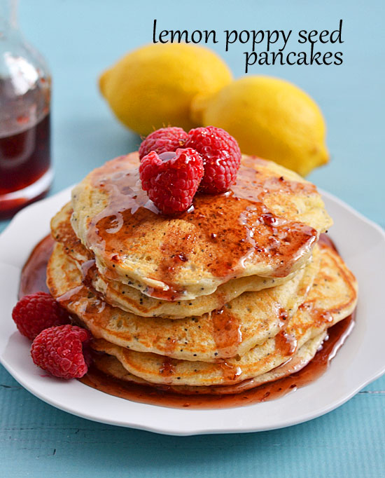 26. Lemon poppy seed pancakes | Kitchen meets girl
