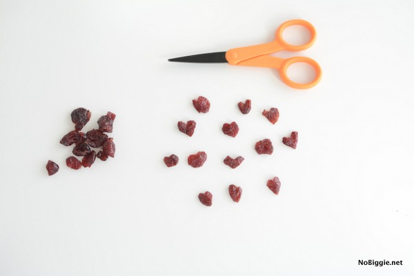 make little dried cranberry hearts | NoBiggie.net