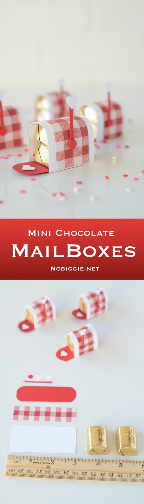 mini chocolate mailboxes | a Valentine's Day treat | Video on NoBiggie.net
