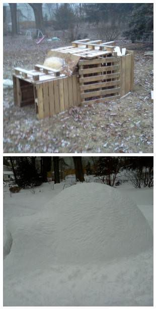 25 creative snow creations for How to make a fort out of wood