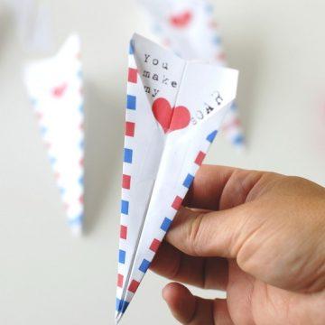 paper airplane valentine printable | NoBiggie.net