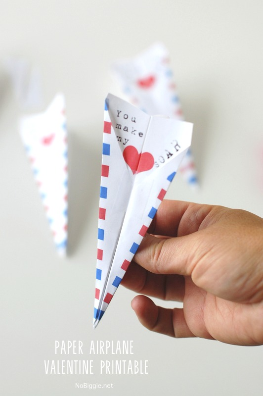 photograph about Paper Airplane Printable referred to as Paper Plane Valentine