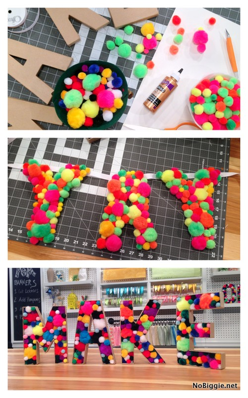 cardboard pom pom banner | 25+ things to make with cardboard