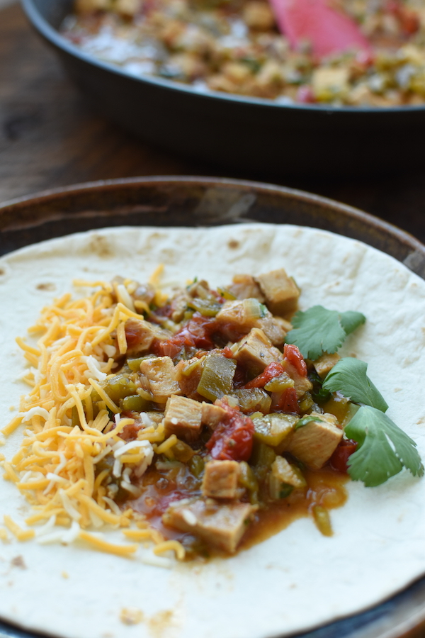 pork chile verde burritos