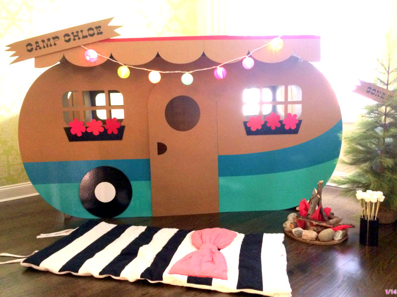 retro cardboard camper | 25+ Things to make with cardboard