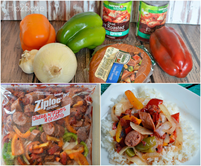 Sausage With Peppers And Onions Freezer Bag Meal 25 To Crockpot Meals