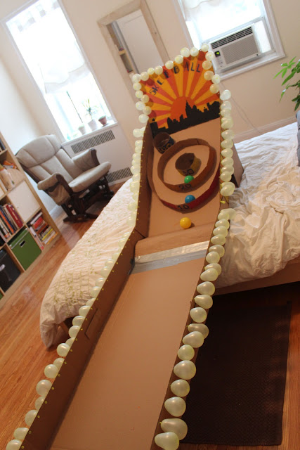 cardboard skee-ball at home | 25+ things to make with cardboard