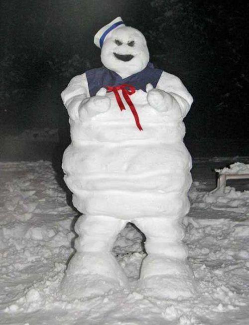 stay puft marshmallow snowman