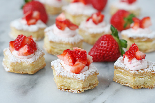 Strawberry Cream Puffs | 25+ Puff Pastry Dough Recipes