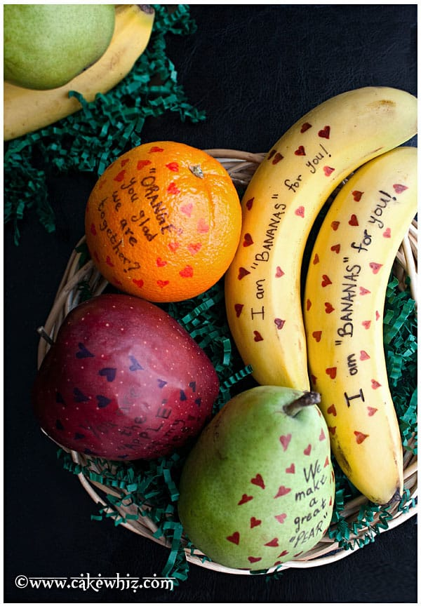 Valentines Day Fruit with messages | 25+ Cheesy Valentine's Day Ideas