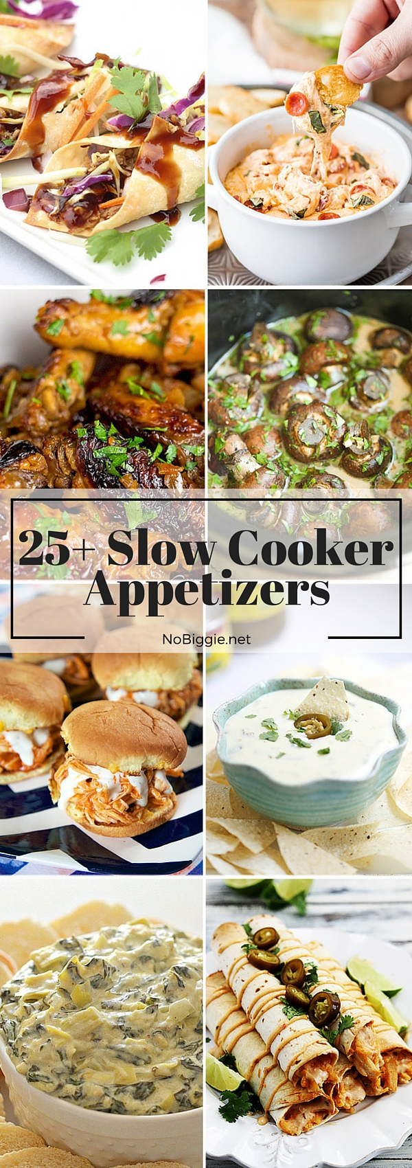 Slow Cooker Appetizers - recipes to help make feeding the crowd a breeze. #slowcooker #slowcookerappetizers #appetizers #crockpot
